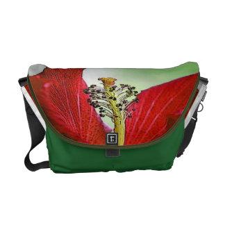 赤いハイビスカス メッセンジャーバッグ
