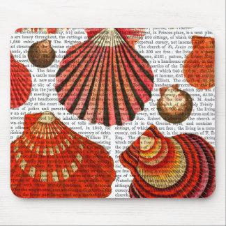 赤いハマグリの貝 マウスパッド