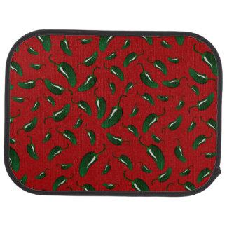 赤いハラペーニョはパターンをふりかけます カーマット