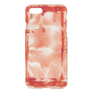 赤いハロウィンのペンキの実験室のお化け屋敷の支柱 iPhone 7ケース