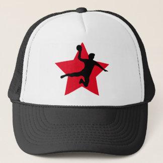 赤いハンドボールの星 キャップ