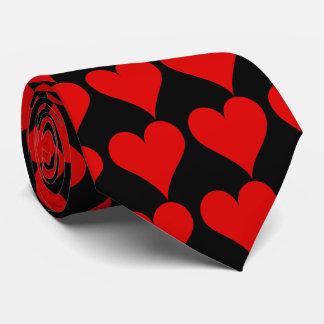 赤いハートのタイ オリジナルネクタイ