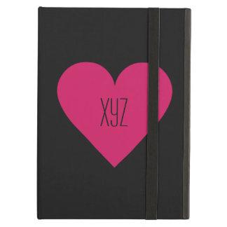 赤いハートのバレンタインのカスタムのケース iPad AIRケース