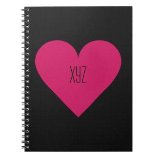 赤いハートのバレンタインのカスタムのノート ノートブック