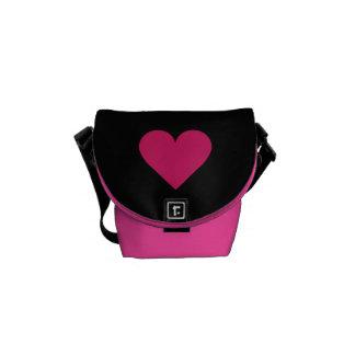 赤いハートのバレンタインのカスタムのメッセンジャーバッグ メッセンジャーバッグ