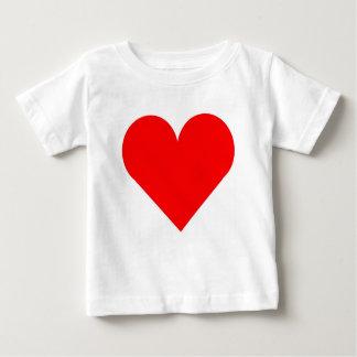赤いハートの乳児のTシャツ ベビーTシャツ