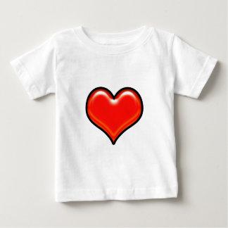 赤いハートの印 ベビーTシャツ