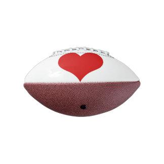 赤いハートの小型フットボール アメリカンフットボール