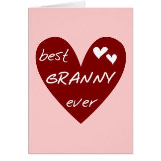 赤いハートの最も最高のなおばあさんのTシャツおよびギフト カード