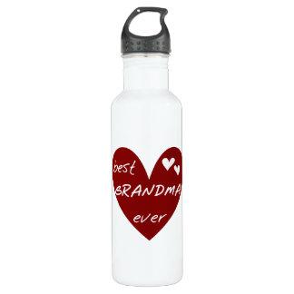 赤いハートの最も最高のな祖母の自由 ウォーターボトル