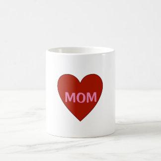 赤いハートの母の日のマグのカスタマイズ可能なギフト コーヒーマグカップ