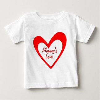 赤いハートの私生児のワイシャツ ベビーTシャツ