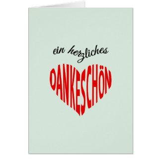 赤いハートのDankeschonのノートありがとう カード