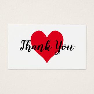 赤いハートは感謝していしています 名刺