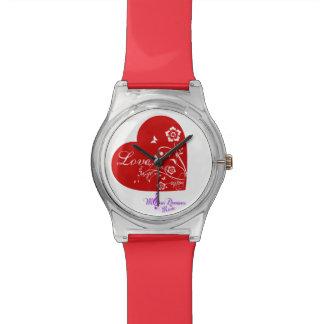 赤いハートは第28ファッション・ウォッチよろしいです 腕時計