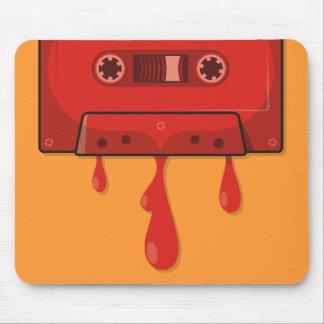赤いハートカセット マウスパッド