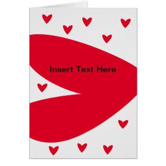 赤いハートカード カード