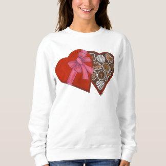 赤いハートチョコレート箱のニューヨークのバレンタインデー スウェットシャツ