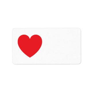 赤いハート愛かバレンタインデー ラベル
