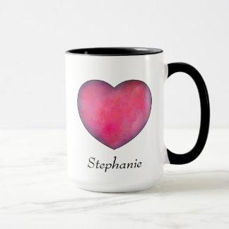 赤いハート愛コーヒー・マグ マグカップ