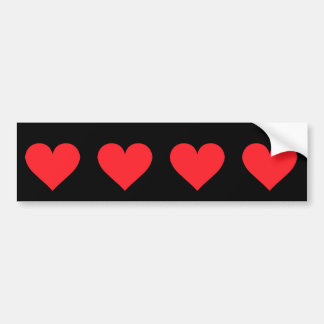 赤いハート-愛、カードスーツ、解剖学 バンパーステッカー