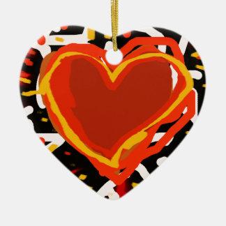 赤いハート、愛 セラミックオーナメント