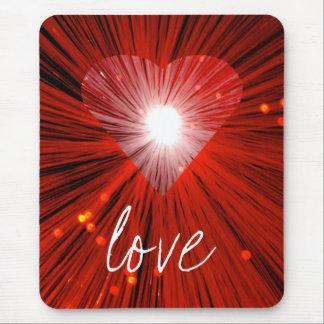 赤いハート「愛」mousepad マウスパッド