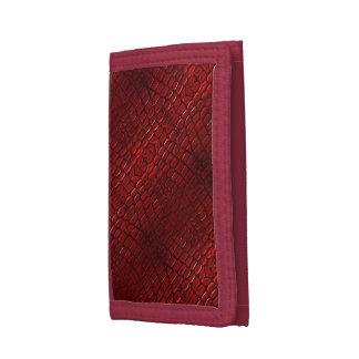 赤いハ虫類の皮の財布