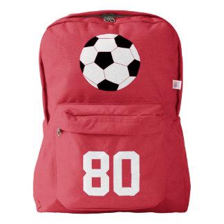 赤いバックパック: サッカー AMERICAN APPAREL™バックパック