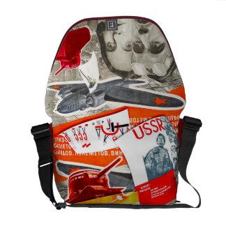 赤いバッグ-人力車のメッセンジャーバッグ メッセンジャーバッグ