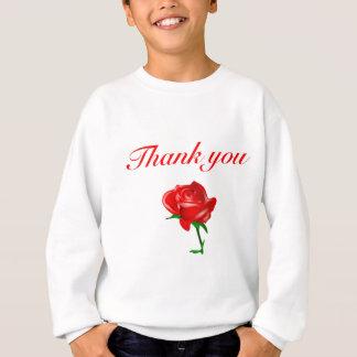 赤いバラありがとう スウェットシャツ