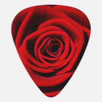 赤いバラのつる植物の花の花愛平和芸術 ギターピック