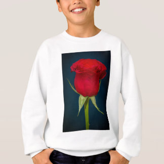 赤いバラのイメージ スウェットシャツ