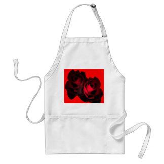 赤いバラのエプロン スタンダードエプロン
