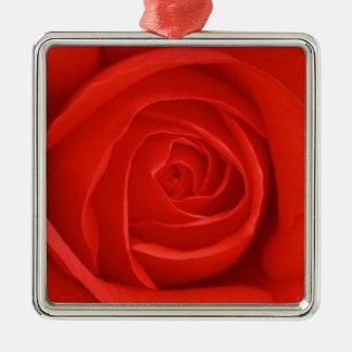 赤いバラのクリスマスのオーナメント メタルオーナメント
