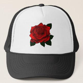 赤いバラのゴシックの芸術 キャップ