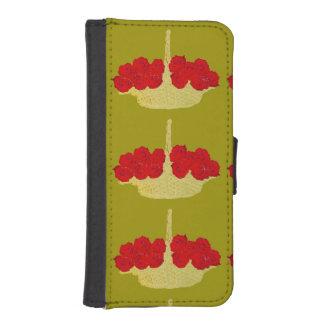 赤いバラのバスケット iPhoneSE/5/5sウォレットケース