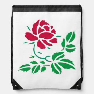 赤いバラのバックパック ナップサック