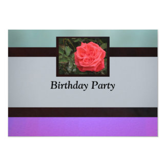 赤いバラのパーティー カード