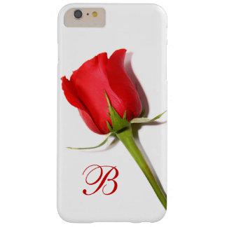 赤いバラのモノグラムのiPhone 6のプラスの場合 Barely There iPhone 6 Plus ケース