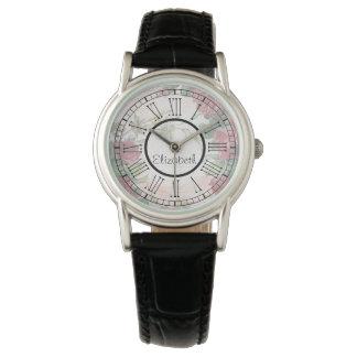 赤いバラのローマ数字 腕時計