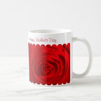 赤いバラの中心 コーヒーマグカップ