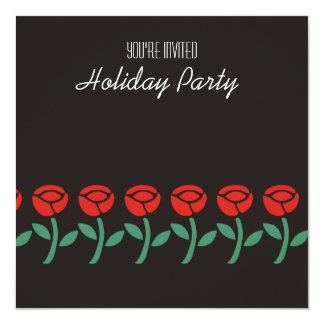赤いバラの休日のパーティの招待状 カード