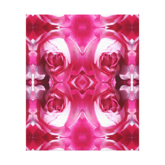赤いバラの写真の芸術のフラクタル1 キャンバスプリント
