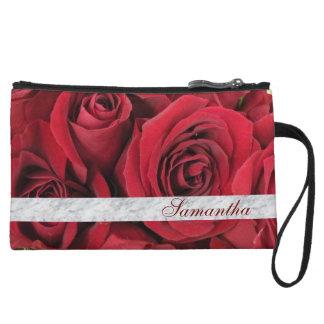 赤いバラの名前入りなクラッチ・バッグ クラッチ