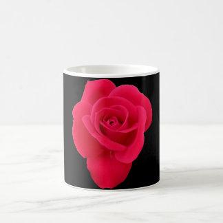赤いバラの基本的な白いマグ コーヒーマグカップ