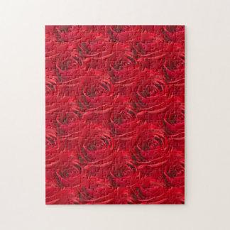 赤いバラの壁紙の抽象的な中心 ジグソーパズル