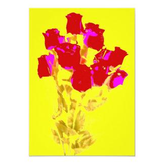 赤いバラの招待状 カード