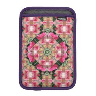赤いバラの曼荼羅の人力車のiPad Miniスリーブ iPad Miniスリーブ