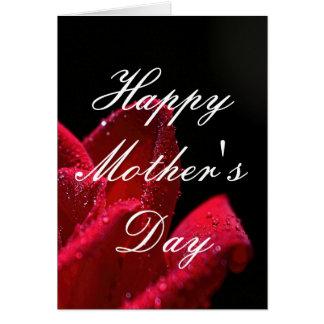 赤いバラの母の日の挨拶状 カード